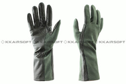 Wholesale Nomex style tactical pilot gloves OD Green