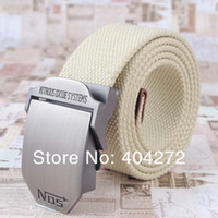 web belt - Nos Brand Web Belt Man Suspenders Automatic Buckle Durable Waistband Jeans Canvas Belt