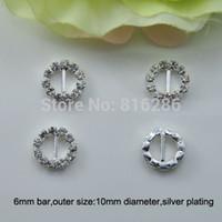 animal invitations - J0004 mm inner bar round rhinestone buckle for invitation card silver or gold plating