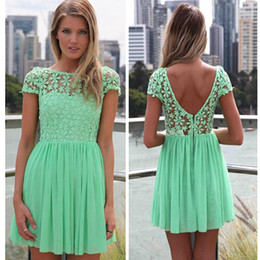 Mint Green Short Casual Dresses Online | Mint Green Short Casual ...