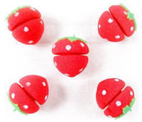 Wholesale Strawberry DIY Soft Sponge Hair Curler Rollers Ball Sponge Curlers rollers for hair care