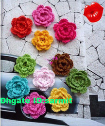 Wholesale sarmit store handmade crochet flowers appliques sewing trims bows baby cloth accessories
