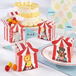 Wholesale quot Big Top quot Circus Favor Box Four Lovely Animal Style Candy Box Baby Shower Favors