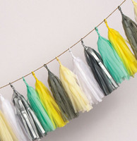 assorted coloured paper - inch cm Tassel Garland Assorted Colours Tissue Paper Tassels Party Garlands DIY kits