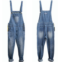 bib fabric - Men Overalls plus size Denim Fabric Bib Jeans New Fashion huge Fashion pocket jumpsuits Male