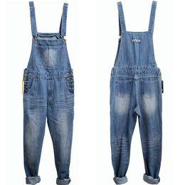 Wholesale-Men Overalls plus size Denim Fabric Bib Jeans New Fashion huge Fashion pocket jumpsuits Male