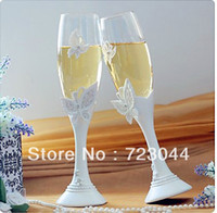 base flute - Butterfly Design Resin Base Wedding Toasting Flutes