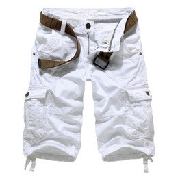 Wholesale- New korean style large size male casual multi-pocket shorts  uniform shorts men,Multi-pocket cargo shorts for men