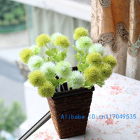 Wholesale Beautiful Silk Flower Artificial Dandelion Ball Home Decoration Colors Available F22