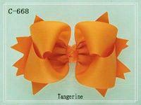 Wholesale Small grosgrain ribbon Chunky Solid Hair Bows hair bows Hair Accesso top quality wnzl a187