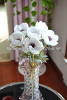 anemone wedding bouquet - Artificial Real Touch Flowers pieces White Anemone Wedding Home Decoration Bouquet