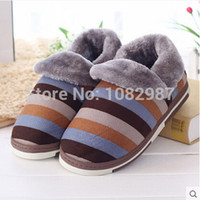 Cheap Wholesale-Men Winter Spring Anti Cold Keep Warm Family Indoor Thermal & Comfortable Heated FLock Slippers Casual Plush Home Shoes Hot