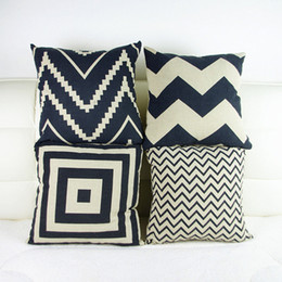 Wholesale Retro Decorative Pillow Covers black and white geometric Home Decoration Pillowcase abstraction Cushion Cover