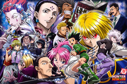 Wholesale HUNTER X HUNTER Art Silk Poster Room Decor Picture Hot Janpan Anime x18 x30 x36inch Killua Zoldyck GON FREECSS