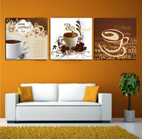 Wholesale Piece Hot Sell kitchen coffee Modern Wall Painting Still Life Home Decorative Art Picture Paint on Canvas Prints