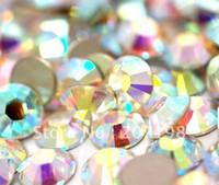 Wholesale X ss4 Crystal AB Nail Art Rhinestones phone art diamond flatback silver back non hotfix crystal quality