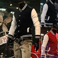 basketball uniforms - Brand New Men s Jacket Baseball Sweatshirt Coat Fashion Basketball Man Sportwear College Uniform Moleton Masculino Hot
