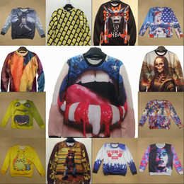 Wholesale Harajuku breaking bad Simpson bear Buddha Monster Women mens D Print sweatshirt Hoodies Casual Tshirt Pullover Plus Size