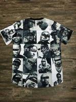 beige jordans - FNTY BIGGIE pac INC Men leather Sleeve T shirts NY LA Jordans Mike Tyson tupac Tee Cashmere HBA retail