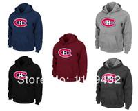 big and tall tshirts - NHL Montreal Canadiens Big Tall Logo CH Pullover Hoodie Red and Retail NHL tshirts