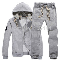 sweatsuits - embroidered sweatsuits men s sport hooded track suits in grey gr