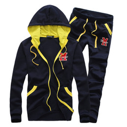 Wholesale sport suit for man sportswear hoodies and pants jackets for men colors for choice size M XXL