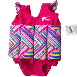 Wholesale BONZ Girls Rose Pink Swim Training Swimming Aid Floatsuit SET UV SPF50 Sun Protection Float Suit With Adjustable Buoyancy