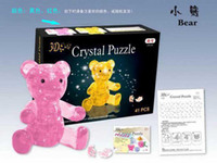 Wholesale D Crystal Puzzle Toys Pink Yellow Bear Christmas Gift