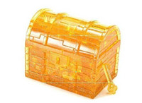 Wholesale 3D Crystal Puzzle Toys Pink amp Yellow Flash Treasure Box LED puzzle Valentine s Day gift