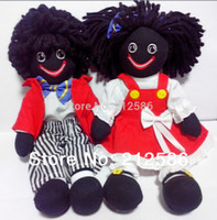 Wholesale High quality quot gollies soft baby doll for boys and girls with black skin kids doll Machine Washable