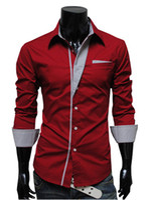 Wholesale XXXL Plus Size Tops Mens Design Stripes Dress Shirts Tops Casual Slim long shirts men New Brand RHY1575