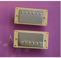 Wholesale Yellow border closed LP pickup a pair of silver mounted DIY Guitar Accessories