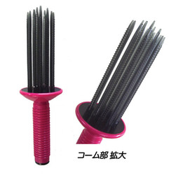 Wholesale New Airy Curl Tool Styler Beauty Hair Make Up Curling Comb Make Up Brush Ringlet Drop shipping