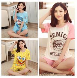 Wholesale- pijama women nightwear knitted pyjamas women cotton pajamas for women two pieces sleepwear striped night gowns