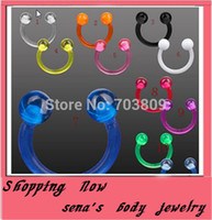 bcr piercing - Uv nose bar Body Piercing Jewelry Nose ring Bcr Ring UV bioflex nose jewelry