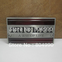 Wholesale Triumph belt buckle with pewter finish FP suitable for cm wideth belt with continous stock