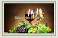 wine grapes - new Top Quality Needlework D DIY Diamond Painting Cross Stitch Sewing The wine and grape