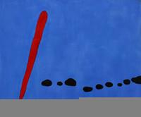 оптовых жоана миро-Оптовая-Свободная перевозка груза 100% картины ручной росписью Репродукция портрета маслом на холсте, Джоан Миро - Bleu II