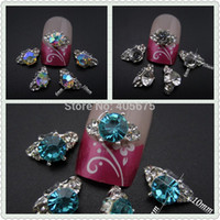 Wholesale MNS578 color choice nail strass ring rhinestones glitter nail art d alloy jewelry design
