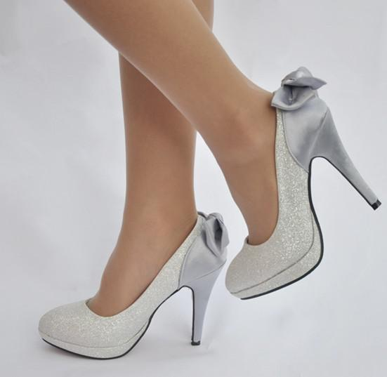 Ladies Silver Shoes For Wedding Throughout Silver Shoes Anu Mohan