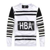 in season clothing - Qiu dong season in Europe stripes HBA letters tide brand sets round collar long fleece HBA detachable new long sleeved clothes