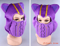 Cheap Wholesale-Free shipping 1pcs anime game character Kennen cosplay plush hat hot sell.