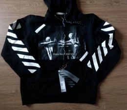 Wholesale best vision OFF WHITE men pullover stripe offset print hoodies fleeces Sweatshirts brand religion painting VIRGIL ABLOH