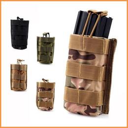 Wholesale Molle Tactical Single Rifle Mag Magazine Pouch Open Top Bag For M4 M16 A0608