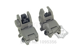 Wholesale-FMA FG Tactical Folding Front & Rear Set Flip Up Backup Sights BUIS 20m rail Gen1 Free Shipping