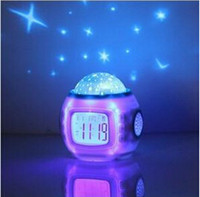 Wholesale New Starry Sky Music Projector electronic calendar colourful creative multi function LED Clock Hot