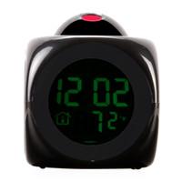 lcd talking alarm clock - LCD Digital Talking Alarm Clock Thermometer C F Desktop Table Despertador Weather Station Electronic Clocks