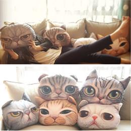 Sieste chat en Ligne-Gros-40cm x 38cm Cartoon Simulation 3D Cat Nap Oreiller Coussin et oreiller Lavable voiture taille Pillow
