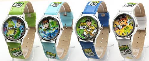 Buy 5Ben 10 Cartoon Watches Children Boys Fashion Bracelet Watch Kids Leather Strap