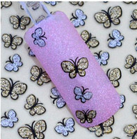 Wholesale HOT SALE New Lovely D Glitter Butterfly Type Stickers for Nail Decoration Cute Shining Nail Art Decorations for Gills